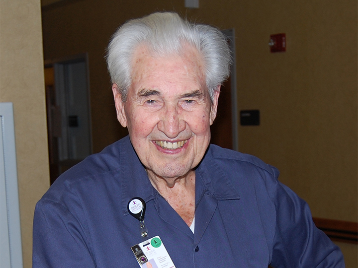 91-Year-Old Dedicated Employee Honored as Morris Hospital's Fire Starter