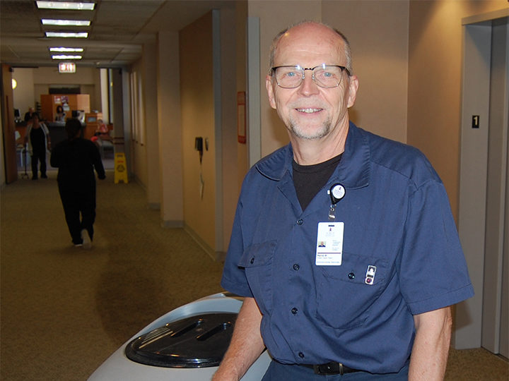 Morris Hospital Floor Technician Inspired to Pay it Forward