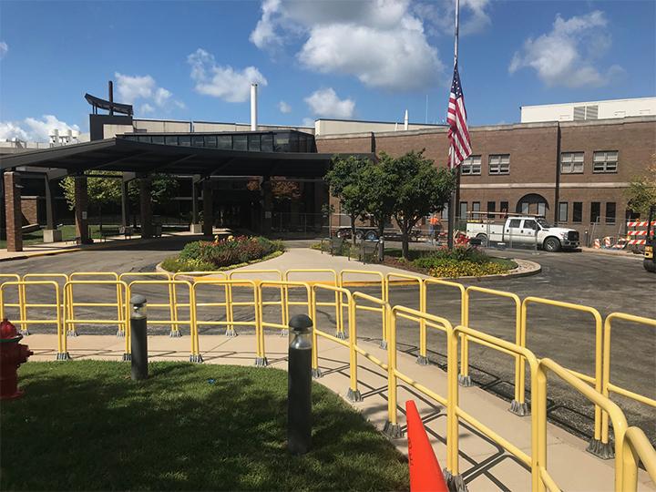 Construction at Morris Hospital Brings Brief Closure to Circle Drive