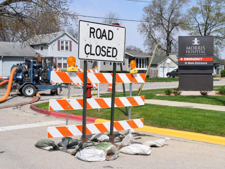 Road construction temporarily changes traffic flow at Morris Hospital